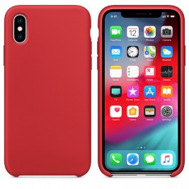 Coque iPhone X/XS en Silicone Liquide Anti-Rayure Rouge