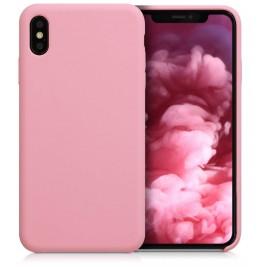 Coque iPhone X/XS en Silicone Liquide Anti-Rayure Rose