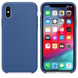 Coque iPhone XS Max en Silicone Liquide Anti-Rayure Bleu