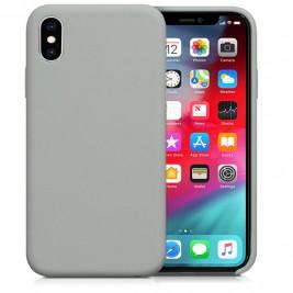 Coque iPhone XS Max en Silicone Liquide Anti-Rayure Gris