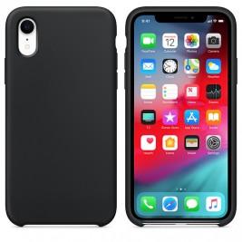Coque iPhone XR en Silicone Liquide Anti-Rayure Noir