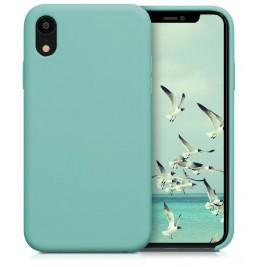 Coque iPhone XR en Silicone Liquide Anti-Rayure Bleu Turquoise