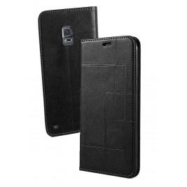 Etui Samsung Galaxy S5 et Pochette Multicarte avec fermeture Magnétique Noir