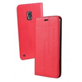 Etui Samsung Galaxy S5 et Pochette Multicarte avec fermeture Magnétique Rouge