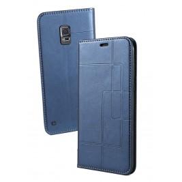 Etui Samsung Galaxy S5 et Pochette Multicarte avec fermeture Magnétique Bleu