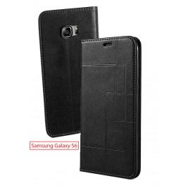 Etui Samsung Galaxy S6 et Pochette Multicarte avec fermeture Magnétique Noir