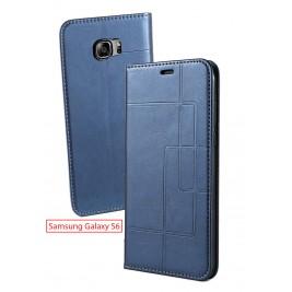 Etui Samsung Galaxy S6 et Pochette Multicarte avec fermeture Magnétique Bleu