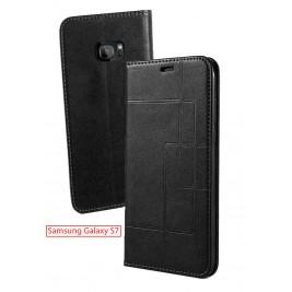 Etui Samsung Galaxy S7 et Pochette Multicarte avec fermeture Magnétique Noir