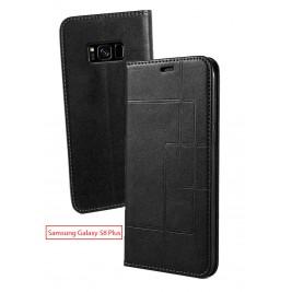 Etui Samsung Galaxy S8 Plus et Pochette Multicarte avec fermeture Magnétique Noir