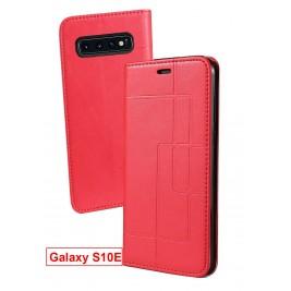 Etui Samsung Galaxy S10 Lite et Pochette Multicarte avec fermeture Magnétique Rouge