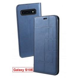 Etui Samsung Galaxy S10 Lite et Pochette Multicarte avec fermeture Magnétique Bleu