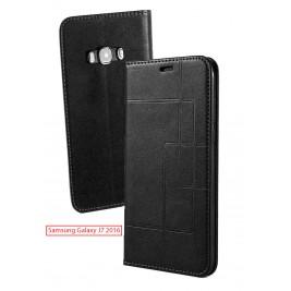 Etui Samsung Galaxy J7 2016 et Pochette Multicarte avec fermeture Magnétique Noir