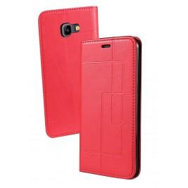 Etui Samsung Galaxy J4 et Pochette Multicarte avec fermeture Magnétique Rouge