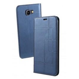 Etui Samsung Galaxy J4 et Pochette Multicarte avec fermeture Magnétique Bleu