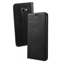 Etui Samsung Galaxy J4 et Pochette Multicarte avec fermeture Magnétique Noir