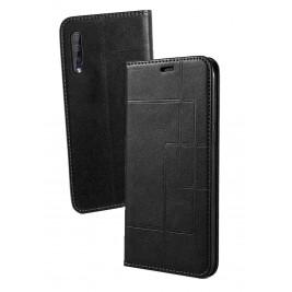 Etui Samsung Galaxy A50 et Pochette Multicarte avec fermeture Magnétique Noir
