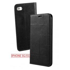 Etui iPhone 5G et Pochette Multicarte avec fermeture Magnétique Noir