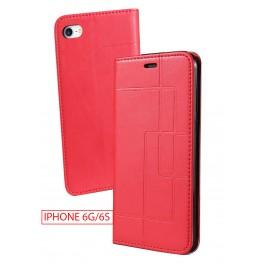 Etui iPhone 6G et Pochette Multicarte avec fermeture Magnétique Rouge