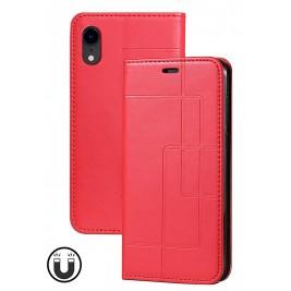 Etui iPhone XR et Pochette Multicarte avec fermeture Magnétique Rouge