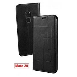 Etui Huawei Mate 20 et Pochette Multicarte avec fermeture Magnétique Noir