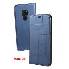 Etui Huawei P20 et Pochette Multicarte avec fermeture Magnétique Bleu