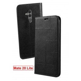 Etui Huawei Mate 20 Lite et Pochette Multicarte avec fermeture Magnétique Noir