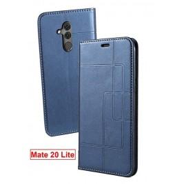 Etui Huawei Mate 20 Lite et Pochette Multicarte avec fermeture Magnétique Bleu