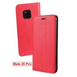 Etui Huawei Mate 20 Pro et Pochette Multicarte avec fermeture Magnétique Rouge