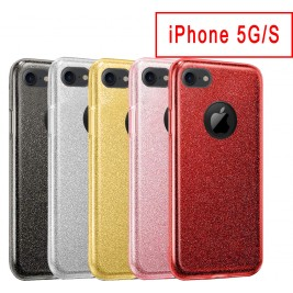 Coque Paillette iPhone 5G/S en Silicone avec Strass brillant