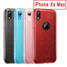 Coque Paillette iPhone Xs Max en Silicone avec Strass brillant
