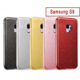 Coque Samsung Galaxy S9 Paillette en Silicone avec Strass brillant