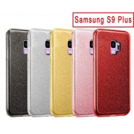 Coque Samsung Galaxy S9 Plus Paillette en Silicone avec Strass brillant