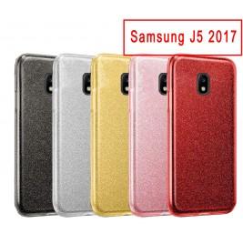 Coque Samsung Galaxy J5 2017 Paillette en Silicone avec Strass brillant