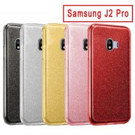 Coque Samsung Galaxy J2 Pro Paillette en Silicone avec Strass brillant