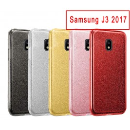 Coque Samsung Galaxy J3 2017 Paillette en Silicone avec Strass brillant