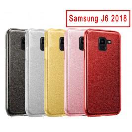 Coque Samsung Galaxy J6 Paillette en Silicone avec Strass brillant