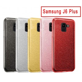 Coque Samsung Galaxy J6 Plus Paillette en Silicone avec Strass brillant