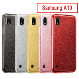 Coque Samsung Galaxy A10 Paillette en Silicone avec Strass brillant