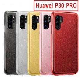 Coque Huawei P30 Pro Paillette en Silicone avec Strass brillant