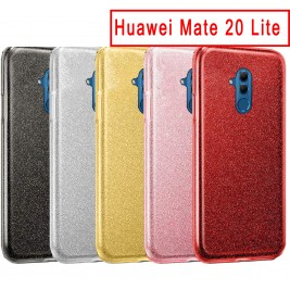 Coque Huawei Mate 20 lite Paillette en Silicone avec Strass brillant