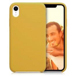 Coque iPhone XR en Silicone Liquide Anti-Rayure Jaune