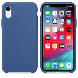 Coque iPhone XR en Silicone Liquide Anti-Rayure Bleu