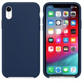 Coque iPhone XR en Silicone Liquide Anti-Rayure Bleu Foncé