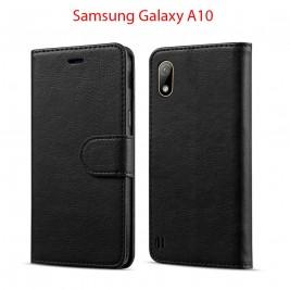 Etui à Clapet A10 et Pochette Portecarte Samsung Galaxy A10 Noir