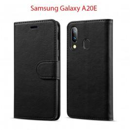 Etui à Clapet A20e et Pochette Portecarte Samsung Galaxy A20e Noir
