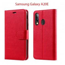 Etui à Clapet A20e et Pochette Portecarte Samsung Galaxy A20e Rouge