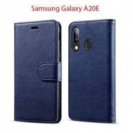 Etui à Clapet A20e et Pochette Portecarte Samsung Galaxy A20e Bleu