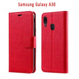 Etui à Clapet A20/A30 et Pochette Portecarte Samsung Galaxy A20/A30 Rouge