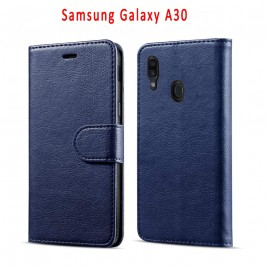 Etui à Clapet A20/A30 et Pochette Portecarte Samsung Galaxy A20/A30 Bleu