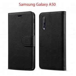 Etui à Clapet A50 et Pochette Portecarte Samsung Galaxy A50 Noir